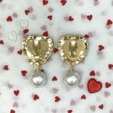 画像5: heart bijou earring&pierce(ハートビジューイヤリング&ピアス) (5)