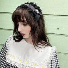 画像1: lace bijou headdress(レースビジューヘッドドレス) (1)