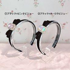 画像2: bijou ribbon headband(ビジューリボンカチューシャ) (2)