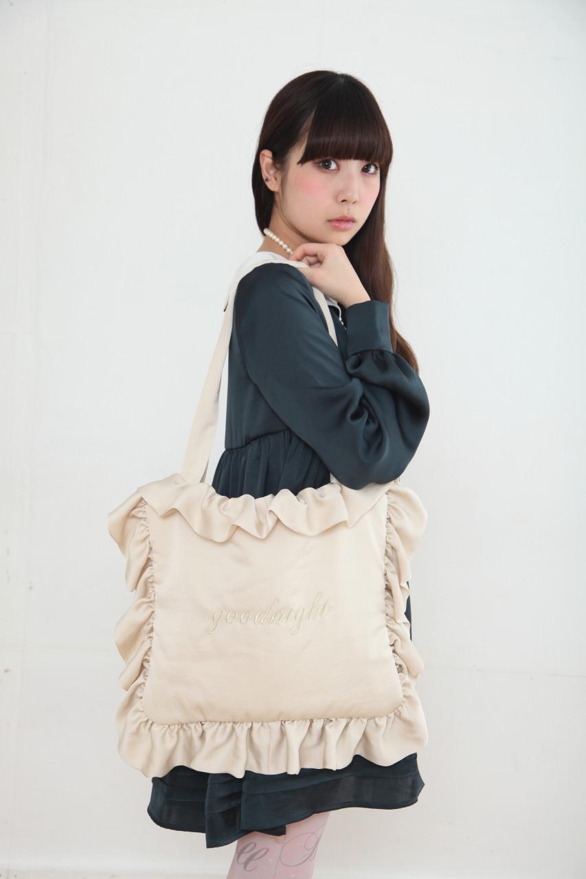 画像1: frill pillow bag(goodnight) (1)