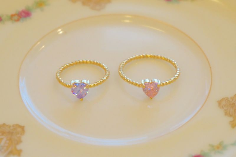 画像1: double heart ring(ダブルハートリング) (1)