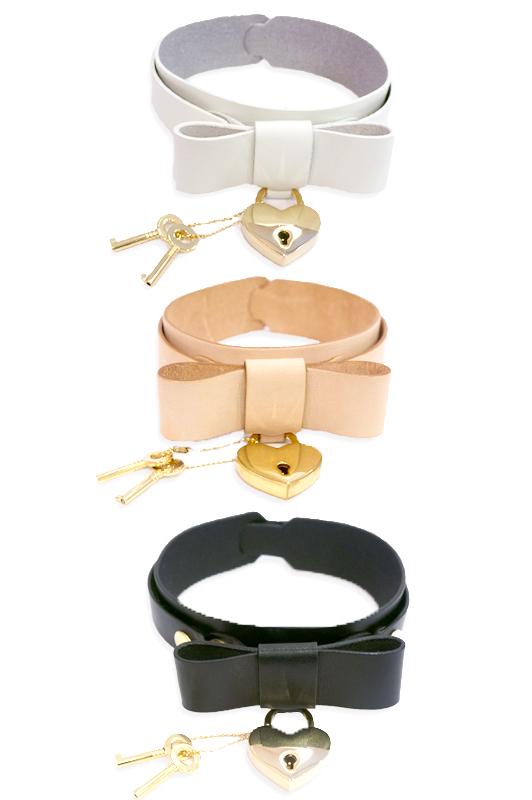 画像1: heart key bracelet(ハートキーブレスレット) (1)