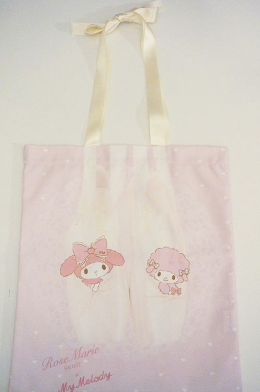画像1: 【予約商品】etude ballet bag(my melody) (1)