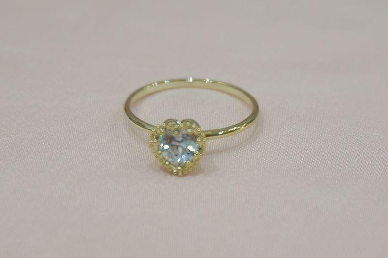 画像1: gold heart  ring(ゴールドハートリング) (1)