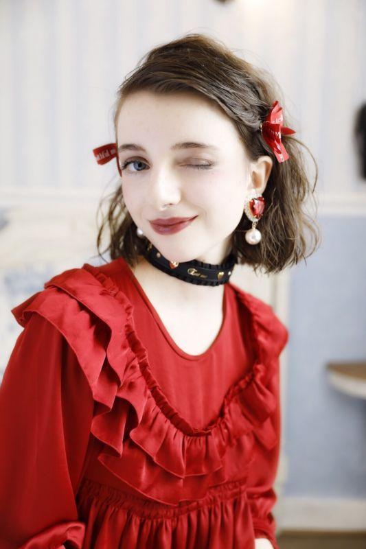 画像1: Princess Ribbon hair-pin(プリンセスリボンヘアピン) (1)