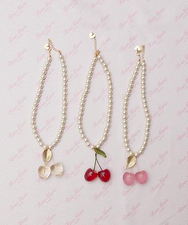 画像1: 【30%OFF】cherry for girl  necklace (1)