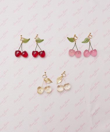 画像1: 【30%OFF】cherry for girl earring&pierce(チェリーフォーガールイヤリング&ピアス) (1)