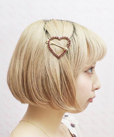 画像1: heart arrow hair-pin(ハートアローヘアピン) (1)