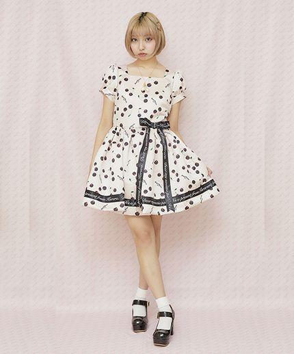 画像1: 【予約商品】Emily's ribbon one-piece dress(エミリーリボンワンピース) (1)