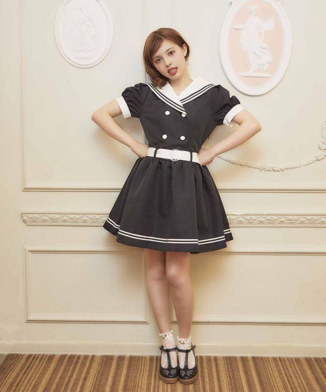 画像1: 【FINAL SALE】Raffine sailor one-piece dress (1)