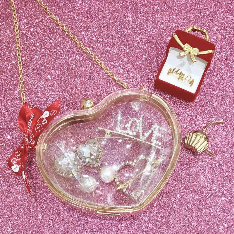 画像1: 【20%OFF】clear heart bag (1)