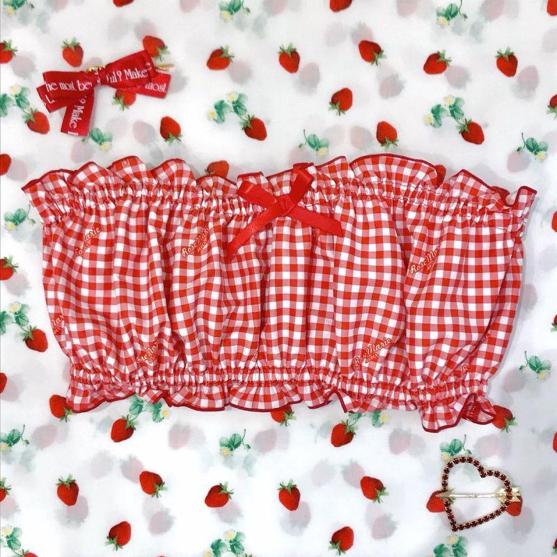 画像1: Petit ribbon bare top (1)