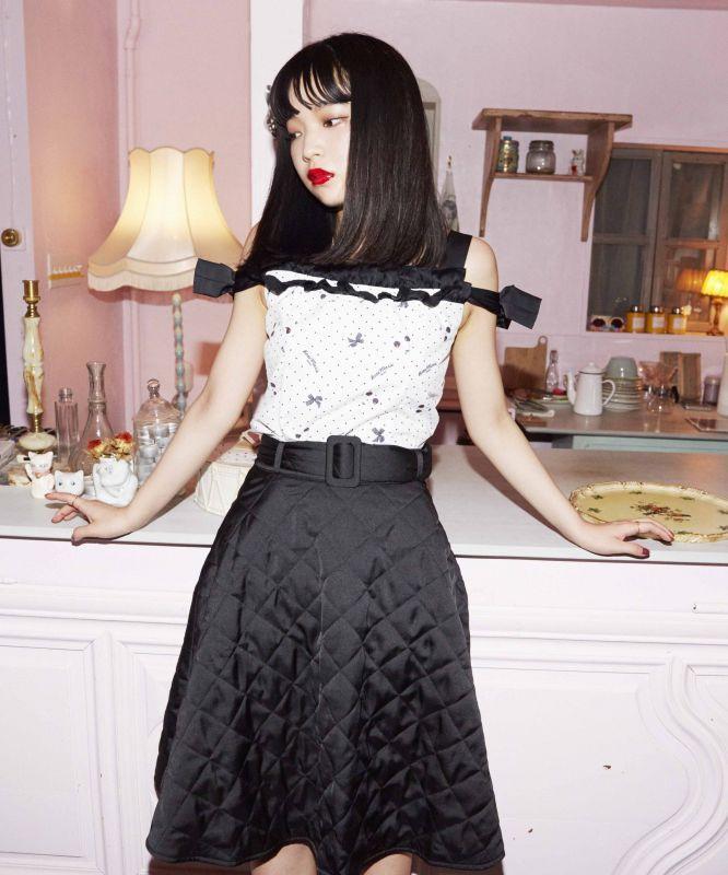 画像1: 【30%OFF】Chat noir skirt (1)