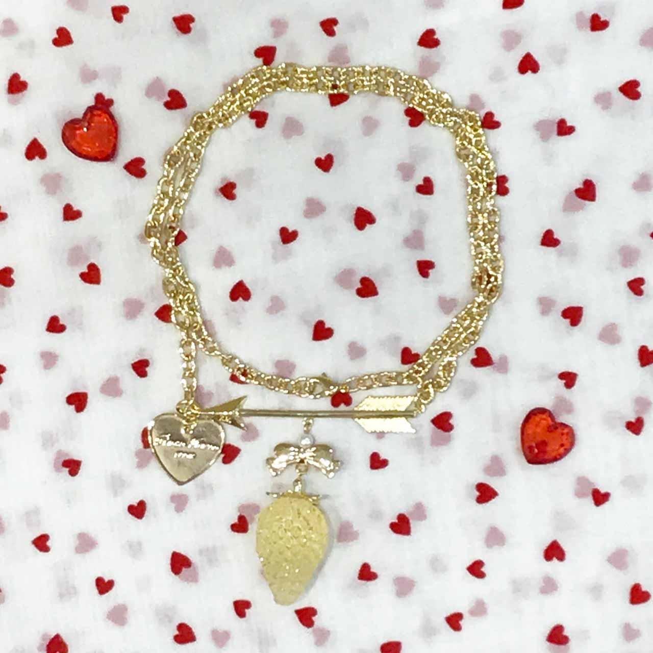 画像1: 【30%OFF】arrow strawberry necklace(アローストロベリーネックレス) (1)