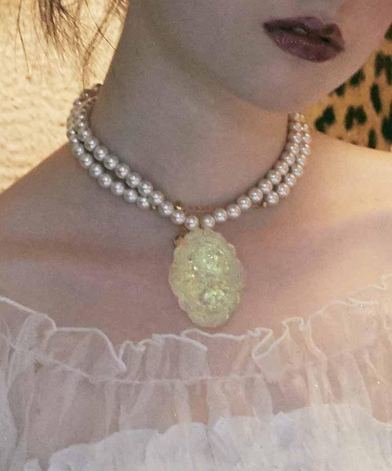画像1: 【30%OFF】cameo's  necklace(glitter) (1)