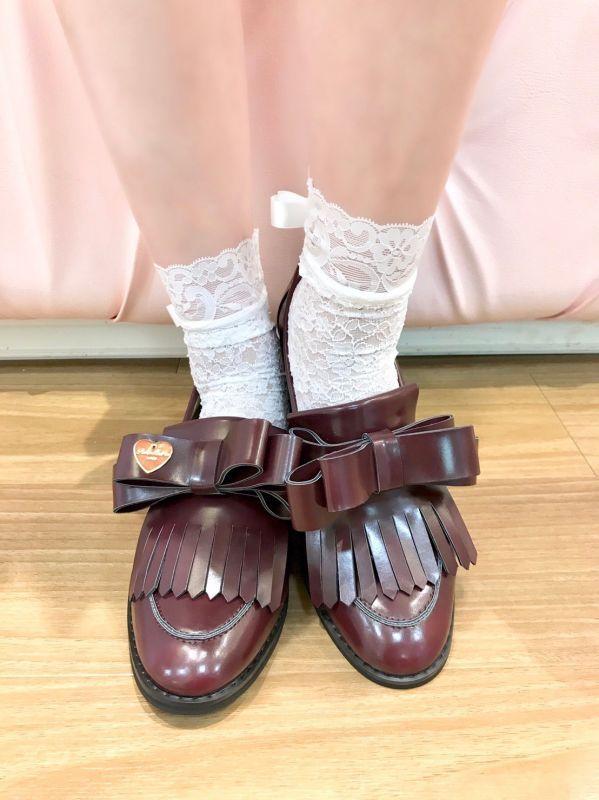 画像1: 【20%OFF】ribbon&charm loafer (リボン&チャーム ローファー) (1)