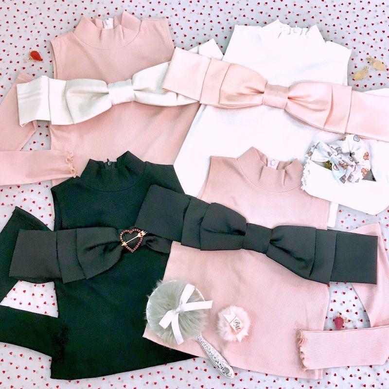 画像1: marshmallow ribbon tops (マシュマロ リボン トップス) (1)