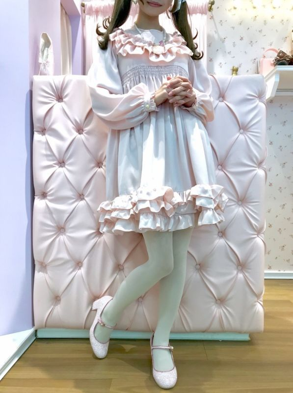 画像1: FRILL DOLL one-piece dress(フリルドールワンピース) (1)