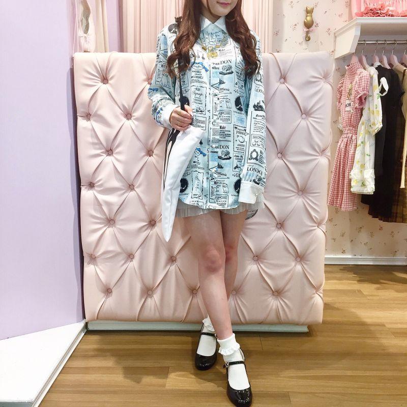 画像1: 【30%OFF】long blouse one-piece dress(ロングブラウスワンピース) (1)