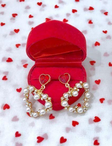 画像1: twinkle heart earring&pierce(トゥインクルハートイヤリングアンドピアス) (1)