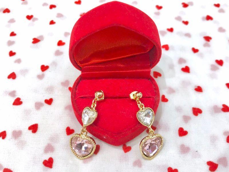 画像1: double heart pierce(ダブルハートピアス) (1)