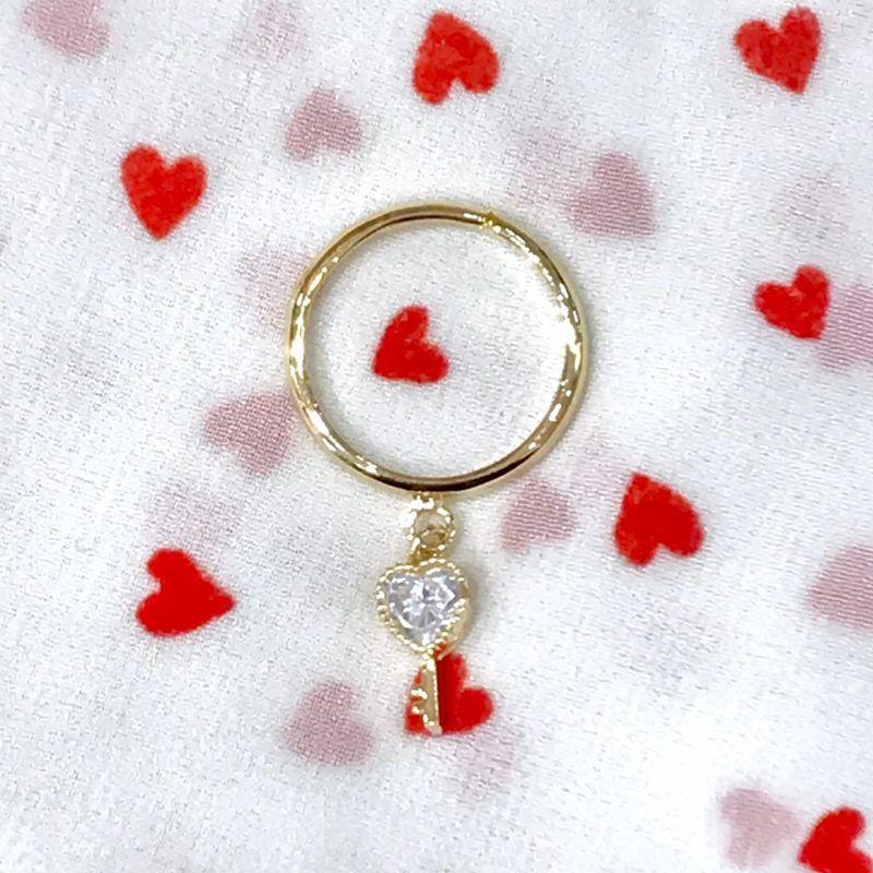 画像1: heart  key ring(ハートキーリング) (1)