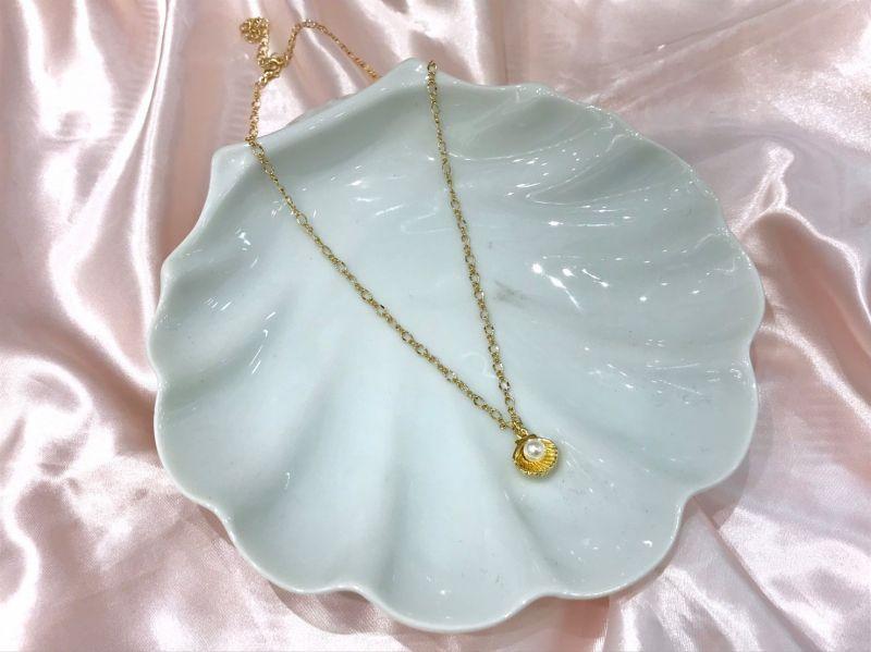 画像1: shell pearl necklace (1)