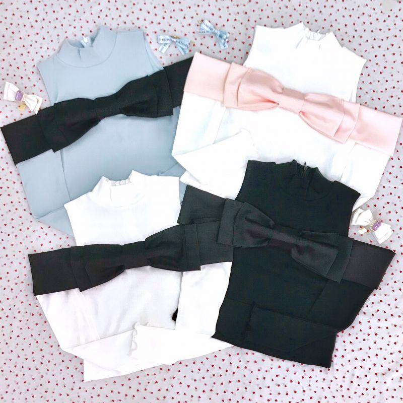 画像1: 【20%OFF】marshmallow ribbon tops (マシュマロ リボン トップス) (1)