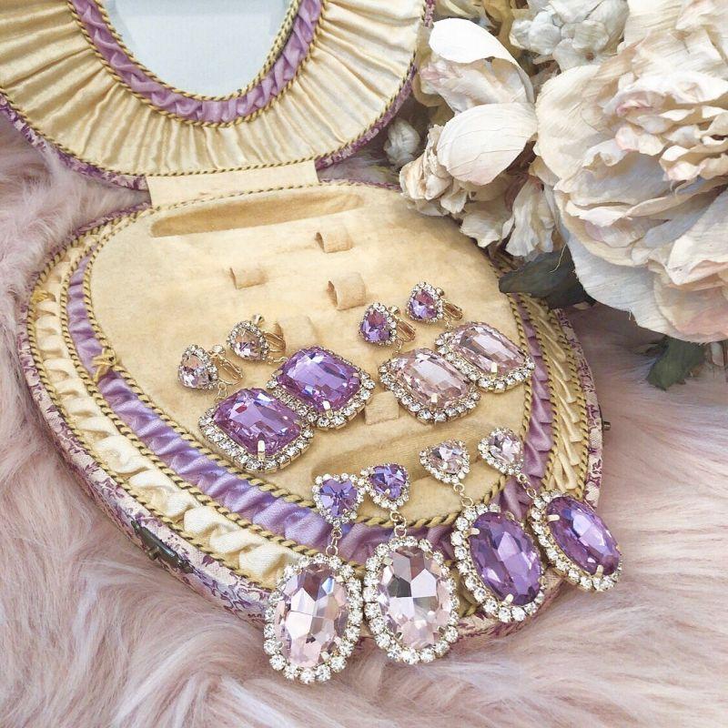 画像1: princess bijou earring&pierce(プリンセスビジュー イヤリング&ピアス) (1)