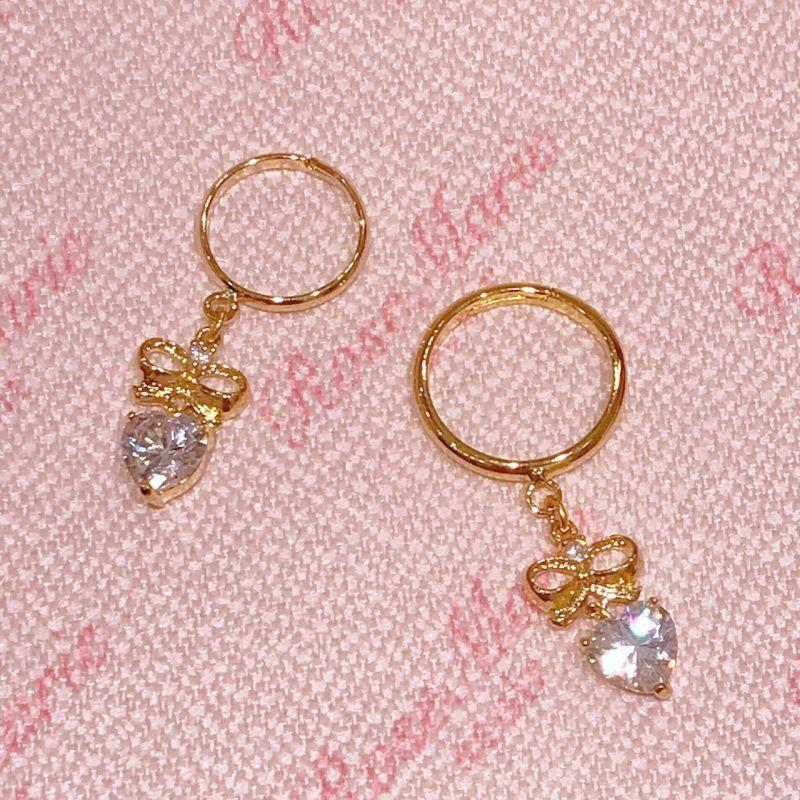 画像1: ribbon heart ring(リボンハートリング) (1)