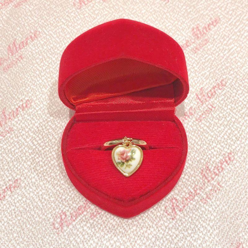 画像1: flower heart ring(フラワーハートリング) (1)