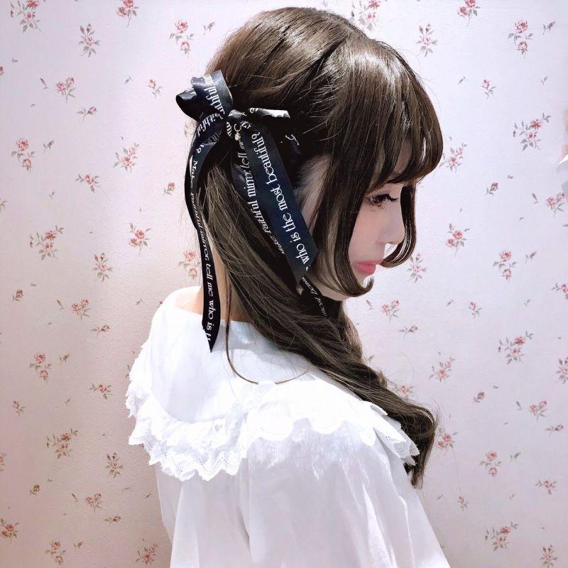 画像1: princess ribbon hair-biretta(プリンセスリボンヘアバレッタ) (1)
