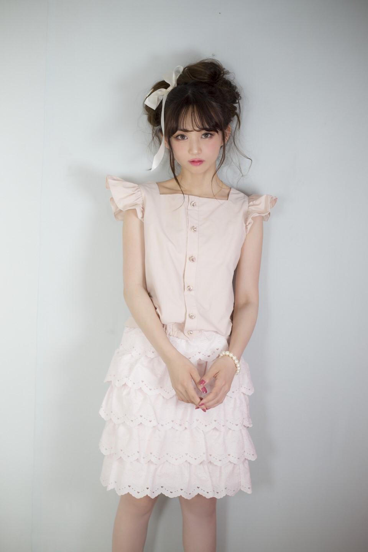 画像1: lace frill skirt(レースフリルスカート) (1)
