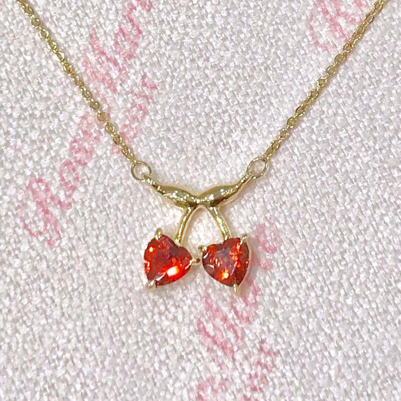 画像1: little cherry necklace(リトルチェリーネックレス) (1)