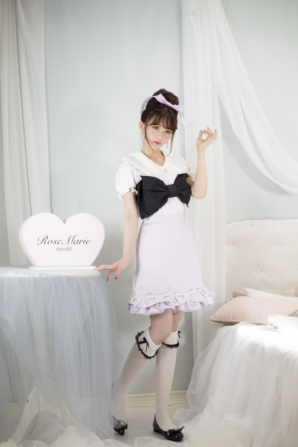 画像1: Juliette ribbon skirt(ジュリエットリボンスカート) (1)