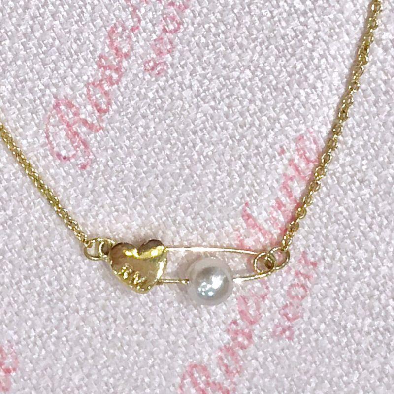 画像1: pearl heart necklace(パールハートネックレス) (1)