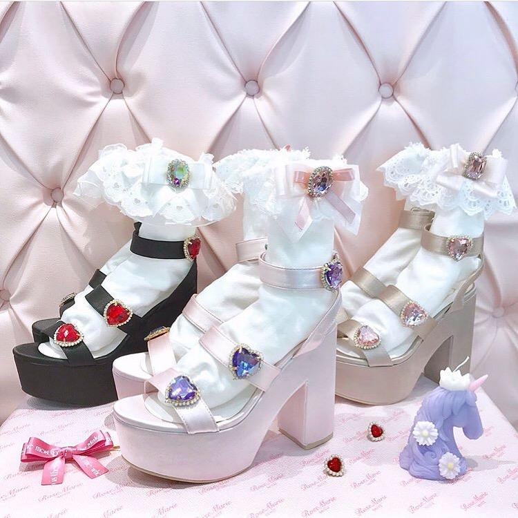 画像1: 【50%OFF】triple heart sandal(トリプルハートサンダル) (1)
