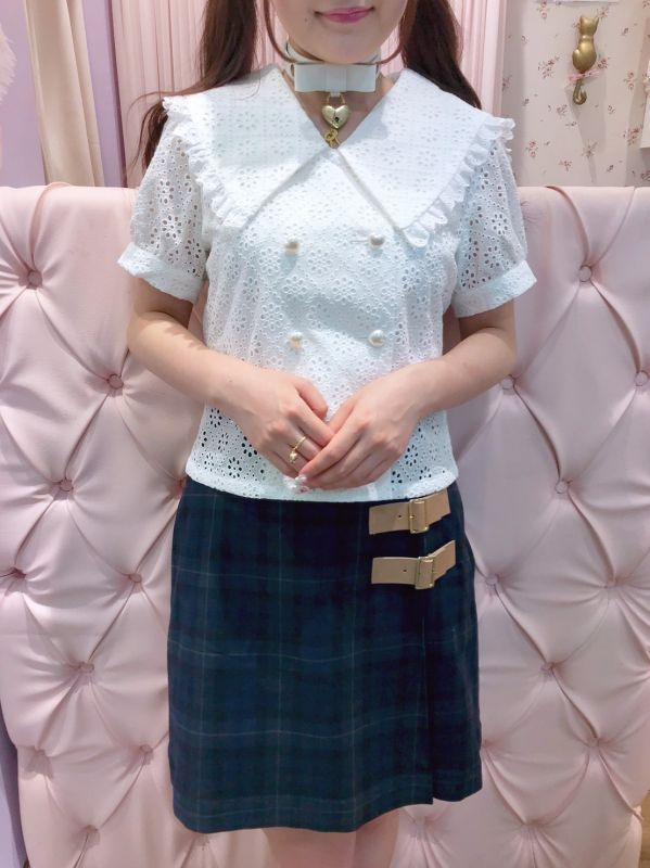 画像1: double lace blouse(ダブルレースブラウス) (1)