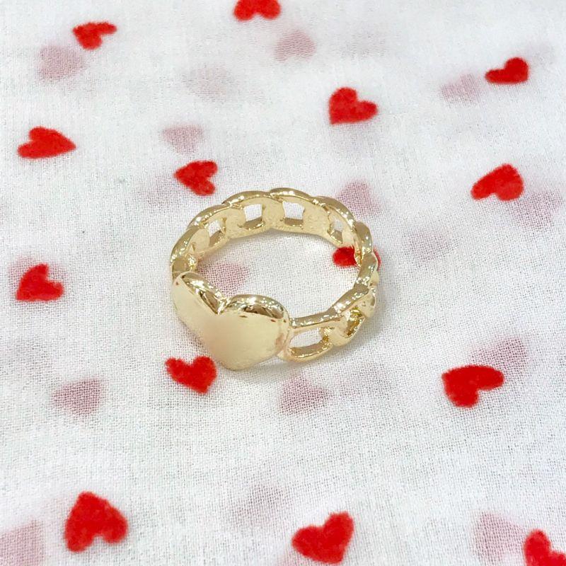 画像1: heart chain ring(ハートチェーンリング) (1)