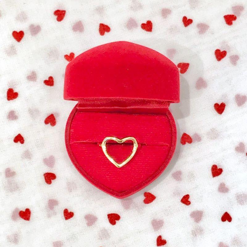 画像1: heart hemming ring(ハートヘミングリング) (1)