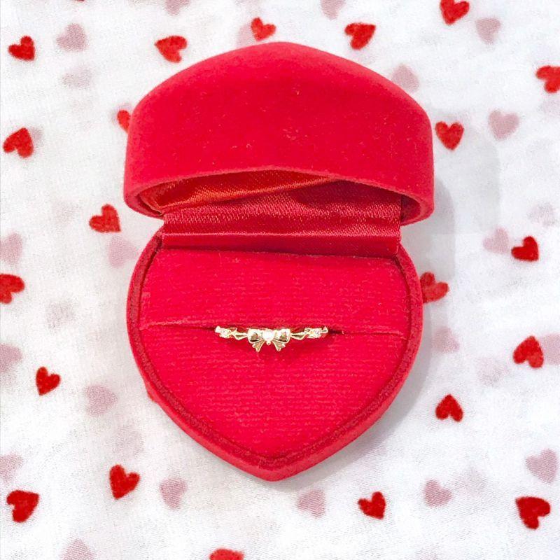 画像1: ribbon pearl ring(リボンパールリング) (1)
