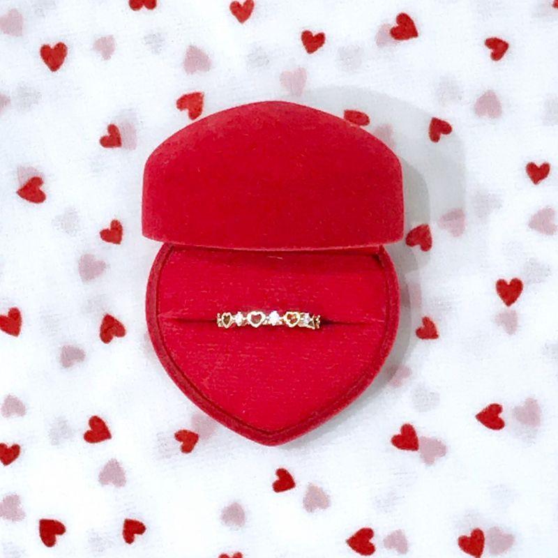 画像1: heart bijou ring(ハートビジューリング) (1)