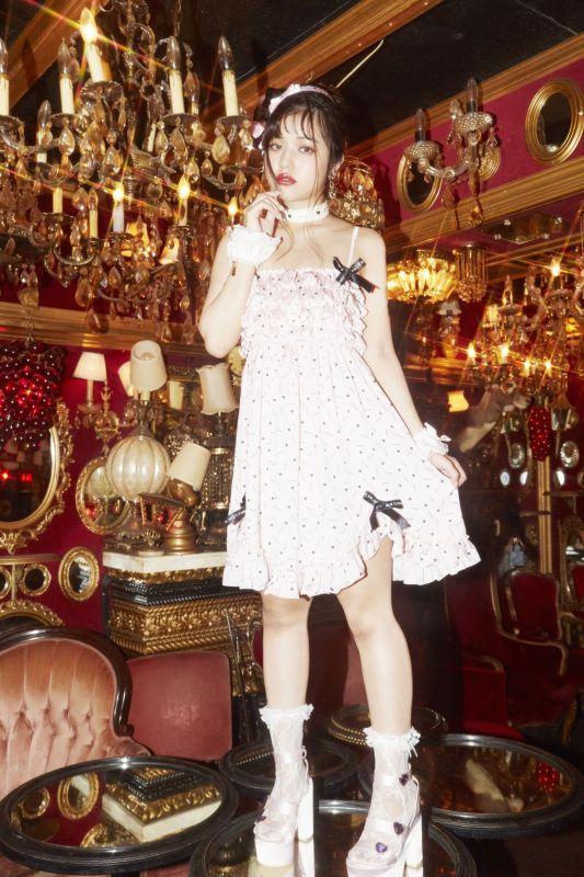 画像1: frill ribbon camisole dress(フリルリボンキャミソール) (1)
