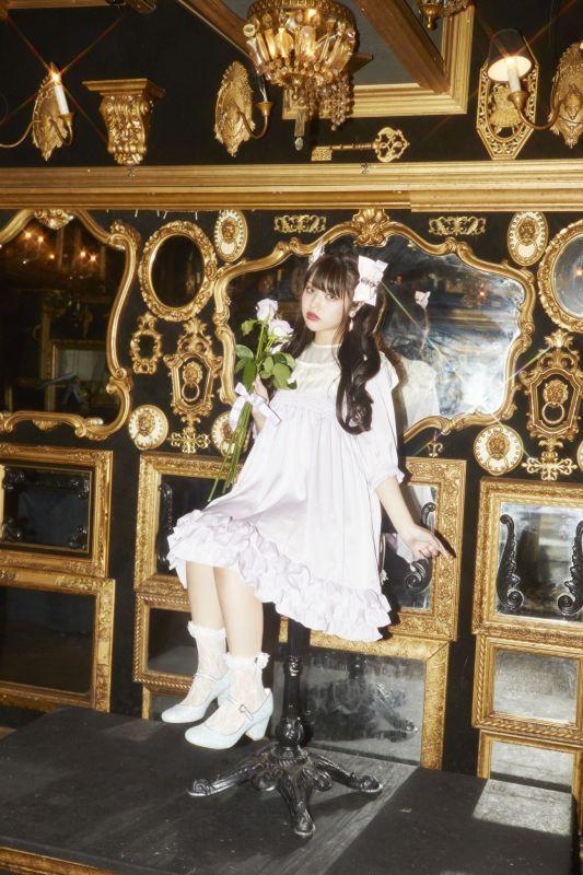 画像1: 【30%OFF】FRILL DOLL one-piece dress〜baby doll series〜(フリルドールワンピース〜ベイビードールシリーズ)) (1)