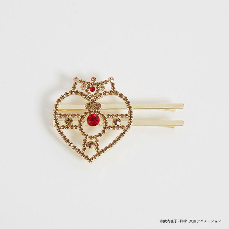 画像1: セーラームーンストア×ローズマリーソワールコラボ  ラインストーン hair pin (1)