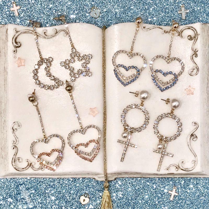 画像1: bijou motif pierce(ビジューモチーフピアス) (1)