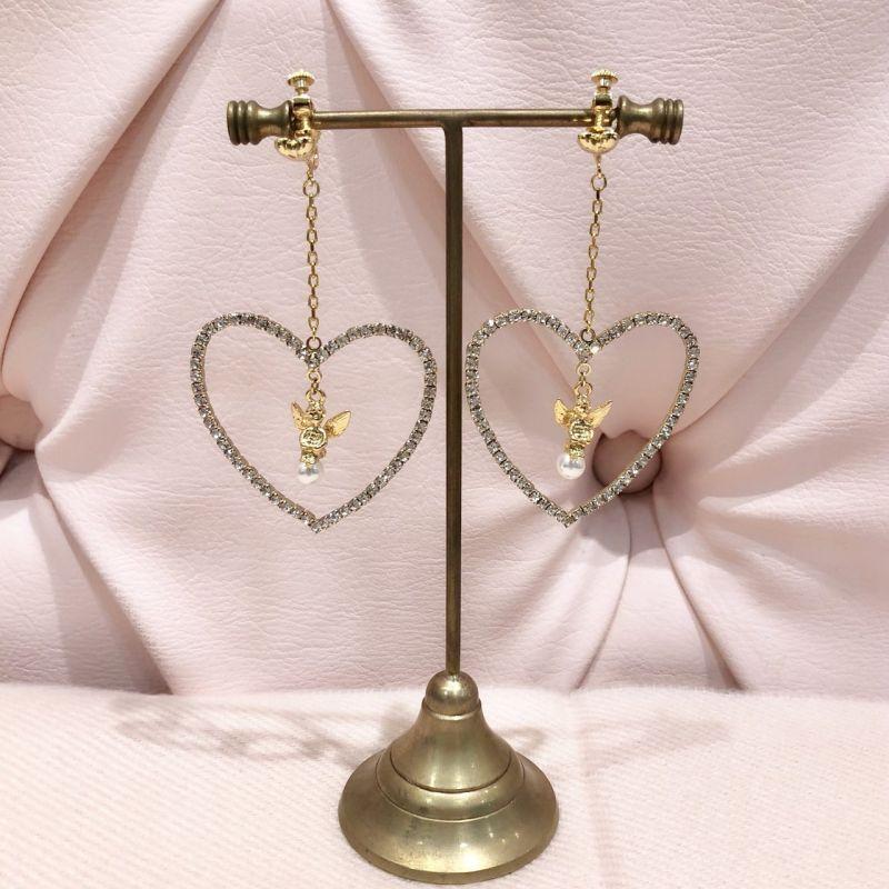 画像1: angel heart earring&pierce(エンジェルハートイヤリング&ピアス) (1)