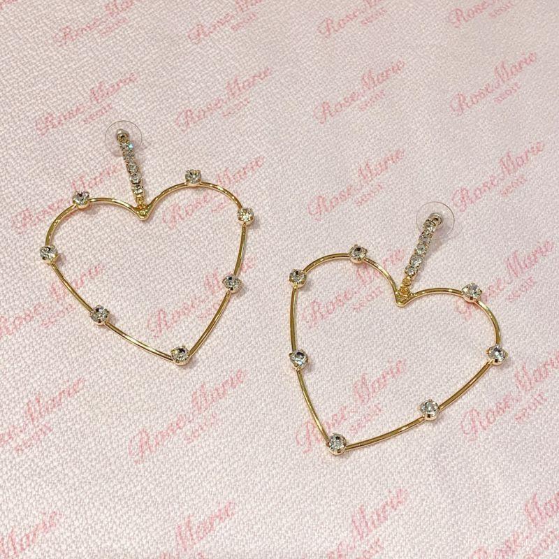 画像1: heart stone pierce(ハートストーンピアス) (1)