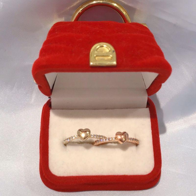 画像1: heart stone ring(ハートストーンリング) (1)
