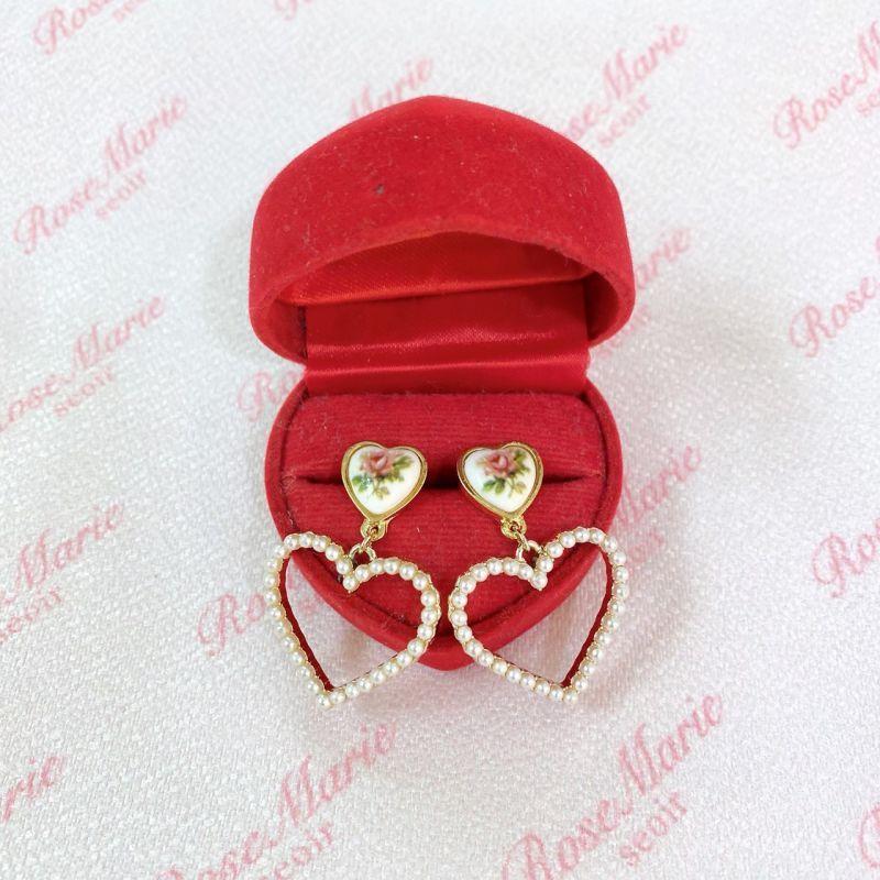 画像1: flower pearl earring&pierce(フラワーパールイヤリング&ピアス) (1)